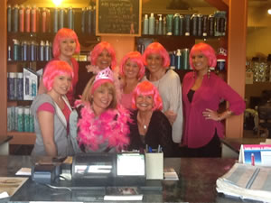 Stylists In Pink Wigs